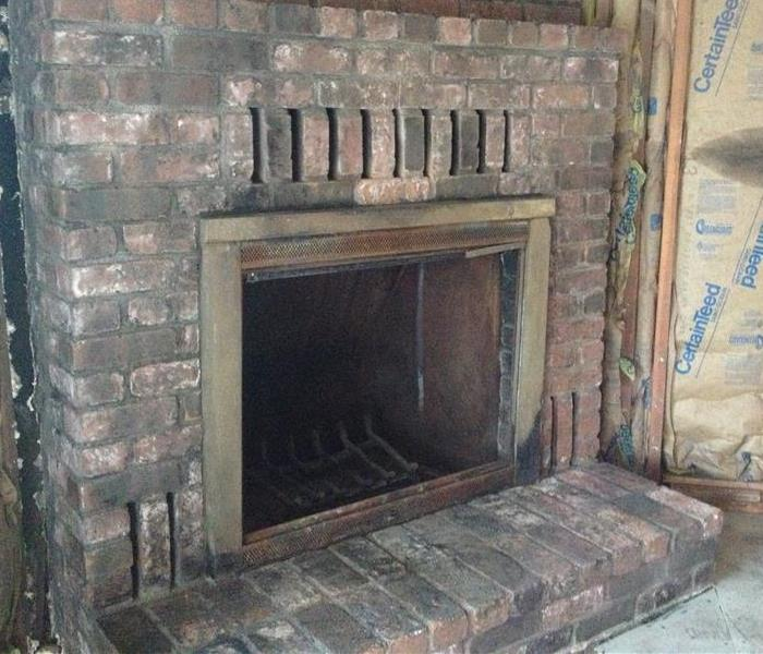 Fireplace damage in Lakeport After
