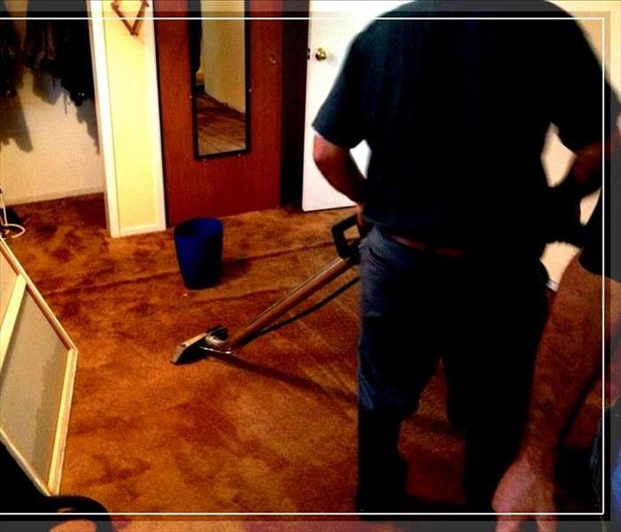 Carpet extraction from flooding