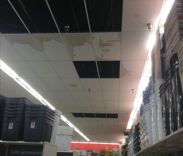 Roof leak at a retailer in Lakeport