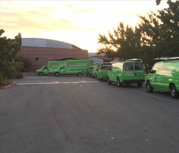 Commercial Smoke cleanup at Piner High School